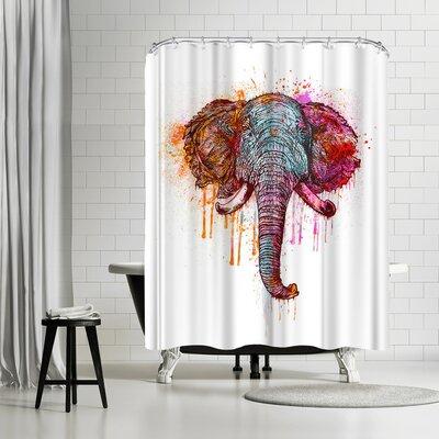 Lebens Art Artsy Elephant Shower Curtain