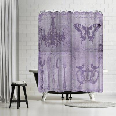 Lebens Art Purple Baroque Shower Curtain