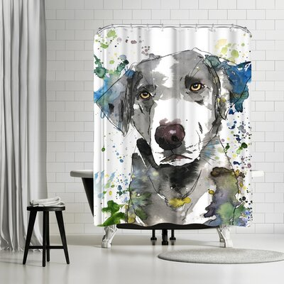 Allison Gray Pacha Shower Curtain