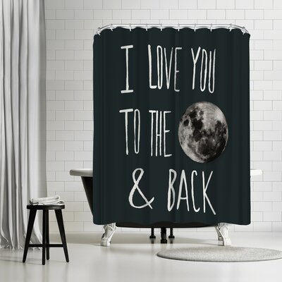 Leah Flores I Love You To The Moon Shower Curtain