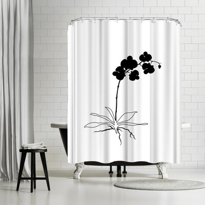 Explicit Design Black Orchid Shower Curtain