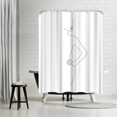Explicit Design Body Profile Shower Curtain