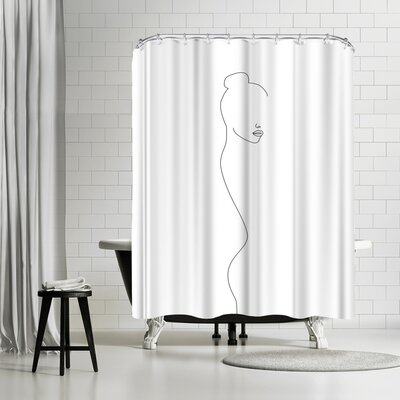 Explicit Design Back Side Shower Curtain