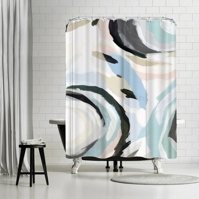 PI Creative Art Blue Galore I Shower Curtain