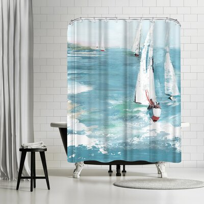 PI Creative Art Gone Sailing Shower Curtain