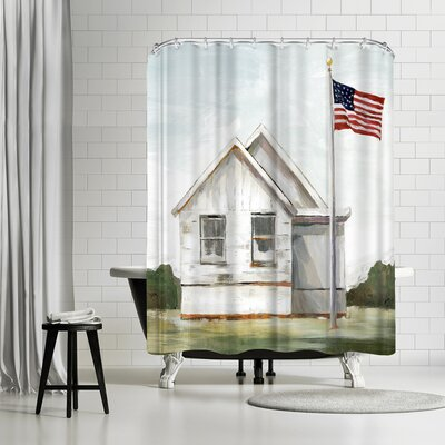 PI Creative Art American Flag Shower Curtain