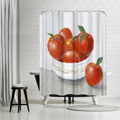 PI Creative Art Apples Shower Curtain