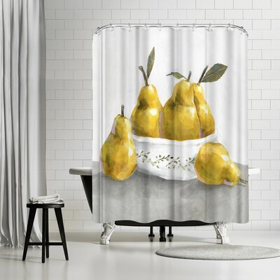 PI Creative Art Pears Shower Curtain