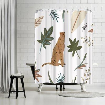 PI Creative Art African Cheetah I Shower Curtain