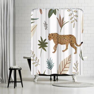 PI Creative Art African Cheetah Ii Shower Curtain