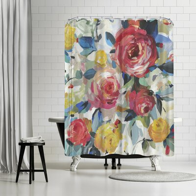 PI Creative Art Red Roses Shower Curtain