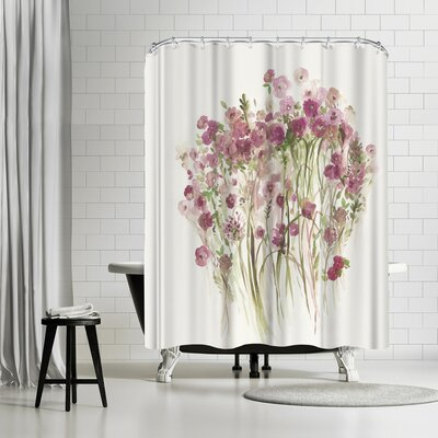 PI Creative Art Pink Spring Garden Shower Curtain