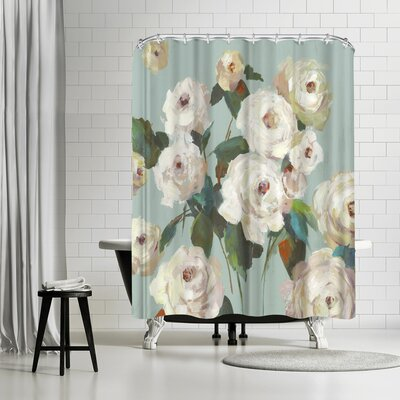 PI Creative Art La Rosa Shower Curtain