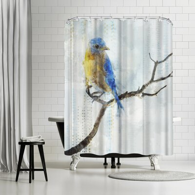 PI Creative Art Little Blue Bird I Shower Curtain
