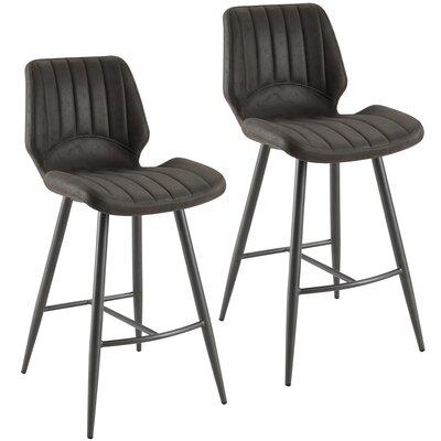 Mosher Bar Stool Upholstery: Gray