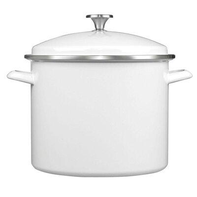 12 qt. Stock pot with Lid Color: White