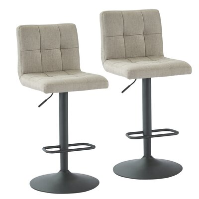Glen Adjustable Height Swivel Bar Stool Upholstery: Beige