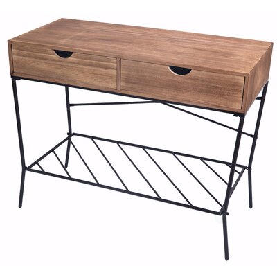 Higgenbotham 2 Drawers and Storage Shelf Console Table