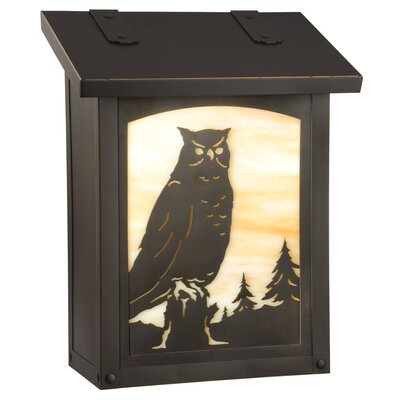 Wall Mounted Mailbox Finish: Warm Brass, Glass Color: Gold Iridescent