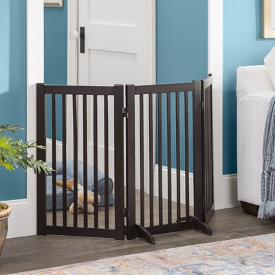 Fonzworth Freestanding Wood 360 Configurable Pet Gate Finish: Espresso