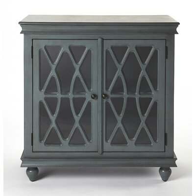 Houon 2 Door Accent Cabinet Color: Twilight Blue