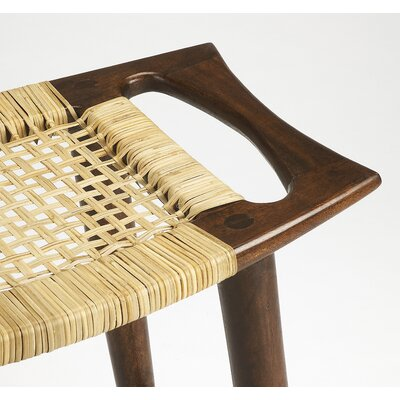 Arago Modern Rattan Accent Stool Color: Dark Brown