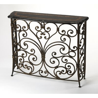Stovall Metal and Stone Console Table
