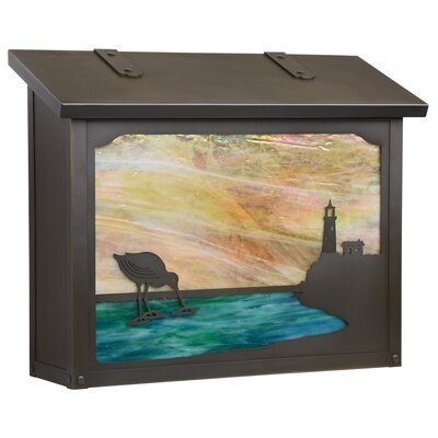 Wall Mounted Mailbox Finish: Architectural Bronze, Glass Color: Gold Iridescent