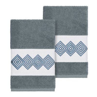 Byron Turkish Cotton Hand Towel Color: Teal