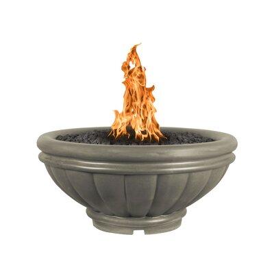 "Roma Bowl Concrete Fire Pit Finish: Ash, Size: 17"" H x 24"" W x 24"" D, Fuel Type: Propane"