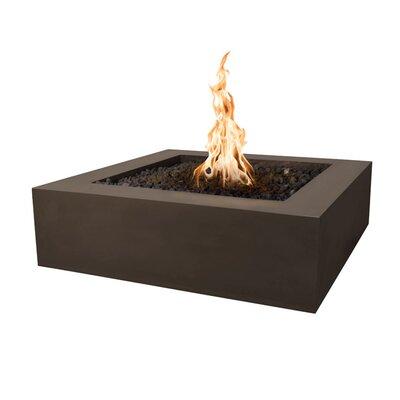 """Quad Concrete Fire Pit Finish: Chocolate, Size: 12"""" H x 36"""" W x 36"""" D, Fuel Type: Natural Gas"""