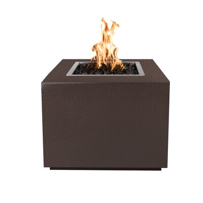 """Forma Steel Fire Pit Table Finish: Copper Vein, Size: 24"""" H x 30"""" W x 30"""" D, Fuel Type: Propane"""
