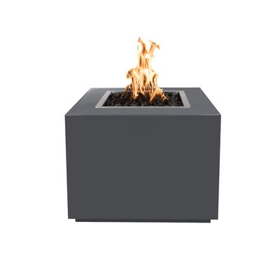 """Forma Steel Fire Pit Table Finish: Gray, Size: 24"""" H x 36"""" W x 36"""" D, Fuel Type: Propane"""