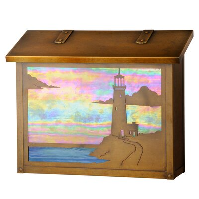 Wall Mounted Mailbox Mailbox Color: Architectural Bronze, Glass Color: Gold Iridescent