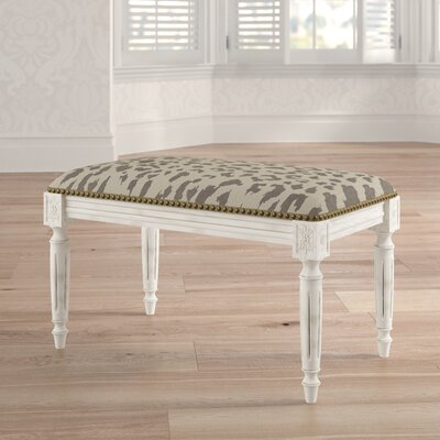 Tyre Upholstered and Wood Bench Color: Smoky Gray