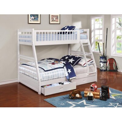 Welsh Twin Over Full Bunk Bed Bed Frame Color: White