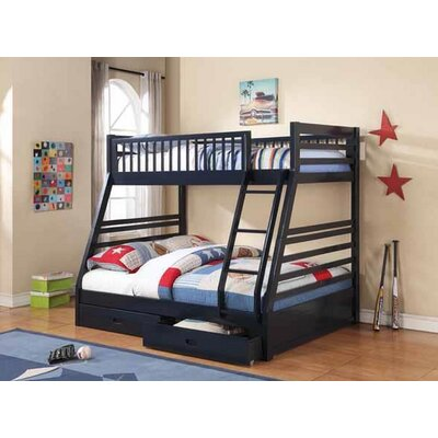 Welsh Twin Over Full Bunk Bed Bed Frame Color: Navy Blue