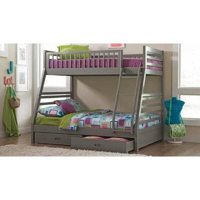 Welsh Twin Over Full Bunk Bed Bed Frame Color: Gray