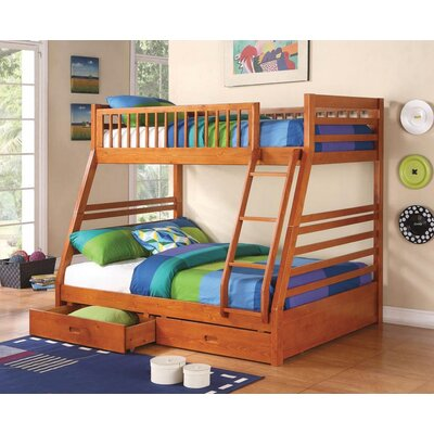 Welsh Twin Over Full Bunk Bed Bed Frame Color: Honey