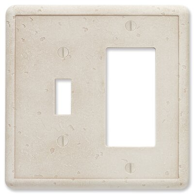 Tumbled Textured Decorative Wall Plate Finish: Ivory