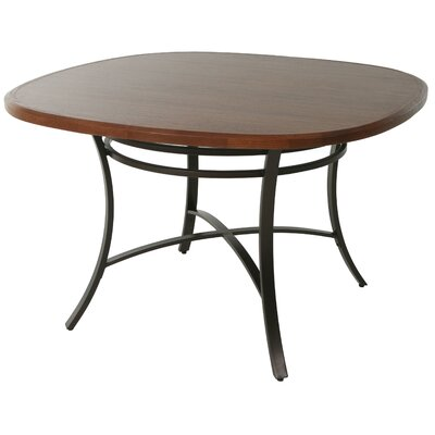 Aahil Dining Table Base Color: Accent Burnished, Top Color: Windsor
