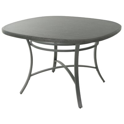 Aahil Dining Table Top Color: Distressed Gray, Base Color: Nickel