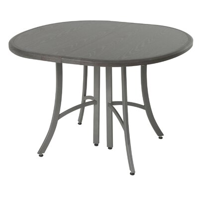 Aahil Extendable Dining Table Top Color: Distressed Gray, Base Color: Nickel