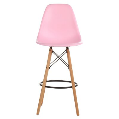 "Barron Retro 26"" Bar Stool Color: Pink"