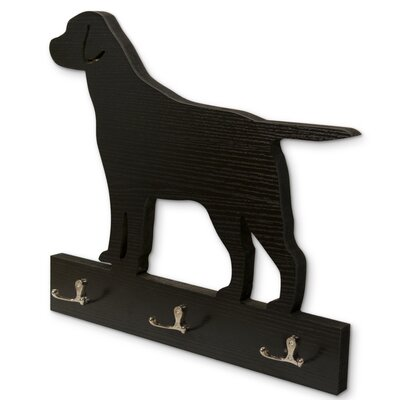 Goodlett Dog Silhouette Wall Hook Color: Black