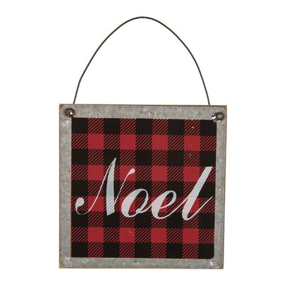 Noel Plaid Shaped Ornament