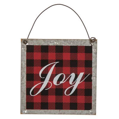 Plaid Joy Ornament