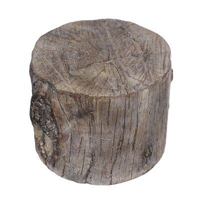Meier Cement Round Tree Stump Accent Stool