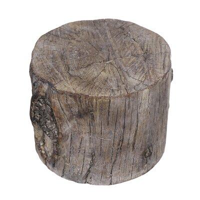 Meier Cement Round Tree Stump Accent Stool