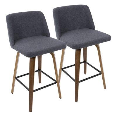 "Fleeman 25.5"" Bar Stool Upholstery: Blue"